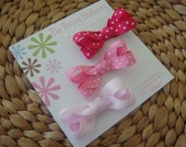 Pretty in Pink Polka Dot Boutique Hair Bows