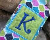 Monogrammed Keychain with Pocket - Credit Card, Gift Card, ID - Personalized, Graduation, Teacher Gift