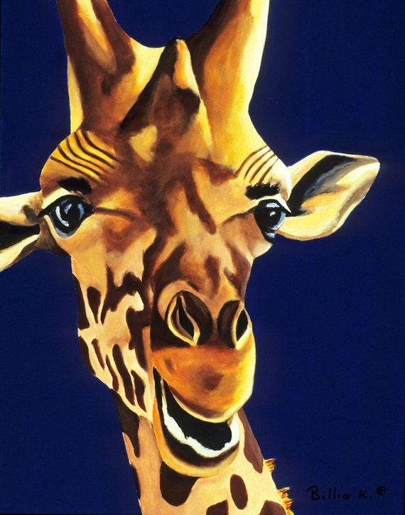 Children's Room Giraffe Animal Art Print - Put Me In Coach 11 x 14 Kids Playroom Poster Print