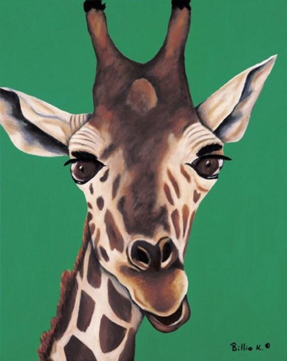 Giraffe - Original Fine Art Painting Titled: Bella Giraffe
