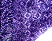 Deep grape and Lavender Handwoven Rayon  light-weight scarf Free Shipping