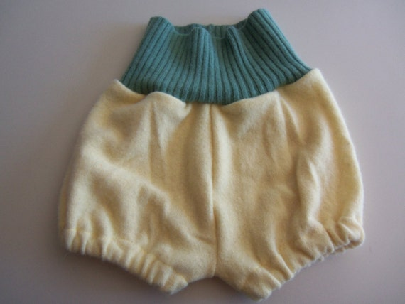 Wool Diaper Cover - Recycled Lambswool and Angora Bloomers   - Medium