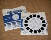 Set of Two Vintage View Master Reels - Loch Lomond and Killarney Copyright 1950 s