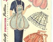 Vintage Simplicity 4479 Tulip and Half One Yard Apron Pattern - 1953