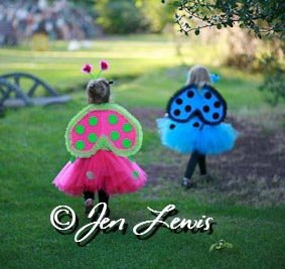 Lady Bug Wings Wire Free You Pick Color Toddler Girl Adult size