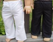 "18"" Girl Doll Pants, 2 pair pants Pick Your Colors, handmade doll clothes, girl  birthday gift, girl christmas gift"