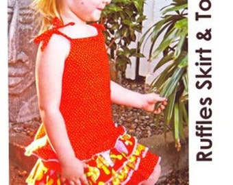 LITTLE BIRD PATTERNS - Ruffles Skirt  andTop Pattern Sz 1 to 6