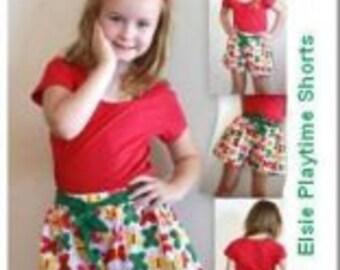 LITTLE BIRD PATTERNS Elsie Playtime Shorts Pattern (Sizes 0 to 6 years)
