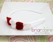 Amy - Felt Roses Classic Headband (many colors available)
