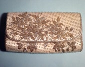 1950s Vintage Bridal Clutch White and Silver Floral Beading ... Something Old Wedding Day Traditions
