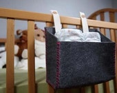 Wooli Felt Diaper Caddy White