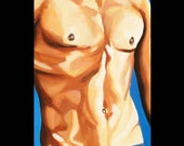 Male Figurative Art Print - 16 x 20 - Mmmmm