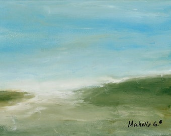 Original Abstract Landscape Painting on Canvas  Titled 35
