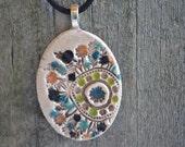 ROUND GARDEN clay necklace