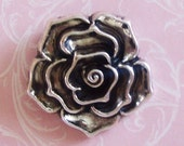 Gorgeous Silver Rose Pendant