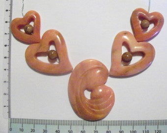 Mother and Child Peach Adventurine Bead Set