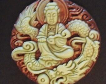 ZiPao Jade Kuan Yin Pendant