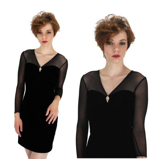 Jessica McClintock Gunne Sax Formal Dress 90s Bodycon Vintage Velvet Prom Small S