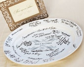 Guest Signature Platter Design