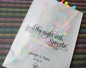 Printable Bag Design- Seal the night with Sweets with personalization