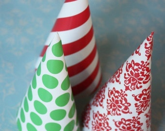 Holiday Paper Treat Cone Set