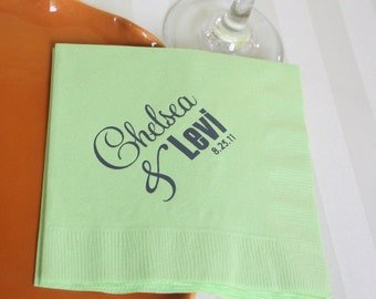 Printable Personalized Napkin Design