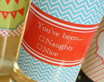 Naughty or Nice Wine Label- Insta-print