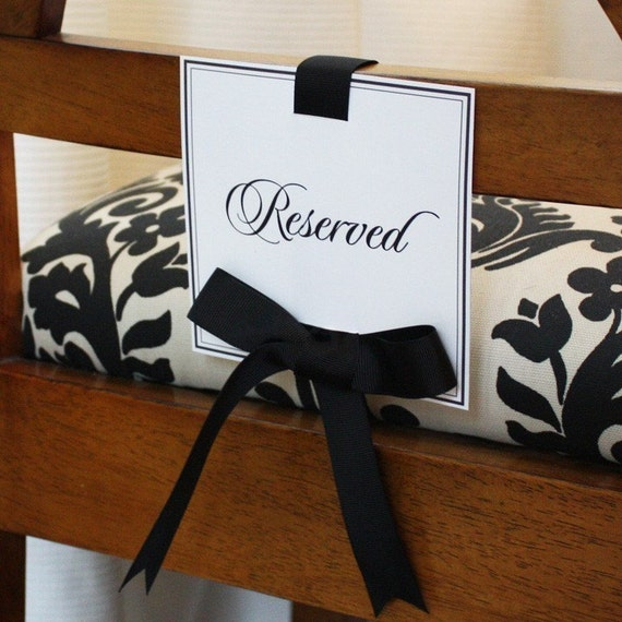 Reserved Seating Sign Set (printable)