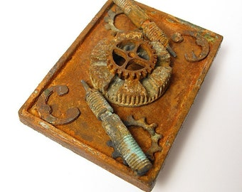 Steampunk, Industrial, Rusted Belt Buckle