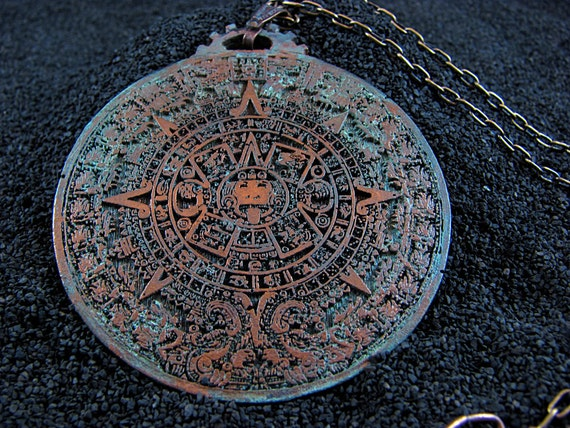 Aztec Calendar - Necklace Pendant - Aztec Sunstone - 2012
