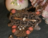 statement necklace   recycled/repurposed  VICTORIAN LACE