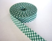 BIAS BINDING - Checked dark green