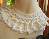 Pure White Crocheted Choker - Perfect for Wedding