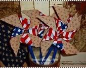 Americana PINWHEELS Patriotic Tucks Ornies Bowl Fillers
