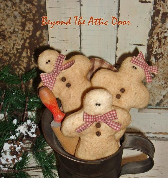 GINGERBREAD Tucks Holiday Bowl Fillers CHRISTMAS Ornies Set Of 3