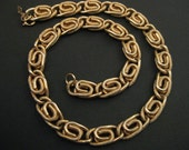 RESERVED for Vardin -Gorgeous Signed Vintage SARAH COVENTRY Wide Textured Link Necklace