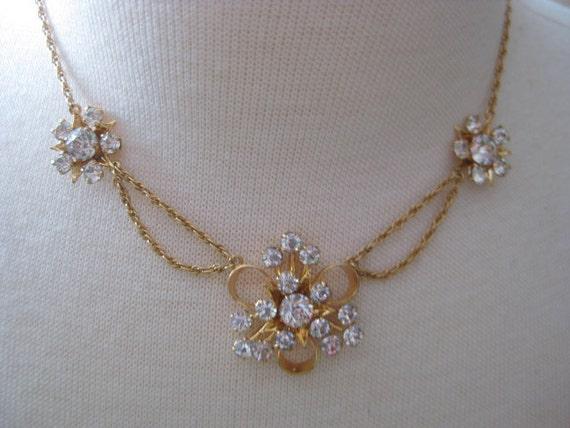 Reserved for Billygoatvintage -Elegant Vintage 1/20 12K RHINESTONE Choker Necklace