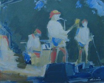 """Ithaca Festival Original Painting . """"Jsan at Ithaca Festival"""" 8x10 in."""