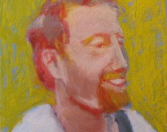 """Original Painting of Sim Redmond . """"Sim Redmond"""" 12x12 in."""