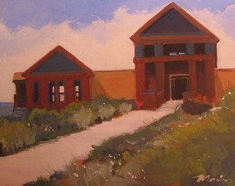 "Original Finger Lakes Winery Painting . ""Lamoreaux Landing II"" 24x30 in."