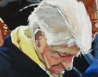 "Trump This Original Painting of Bill Clinton . ""Bill Clinton"" 10x10 in."