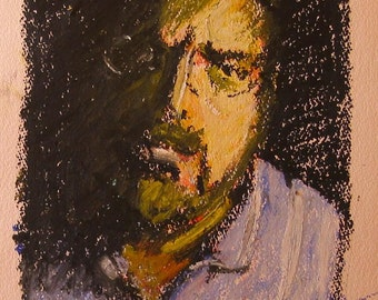 "Original Self Portrait Painting . ""Self-Portrait"" 15x11 in."