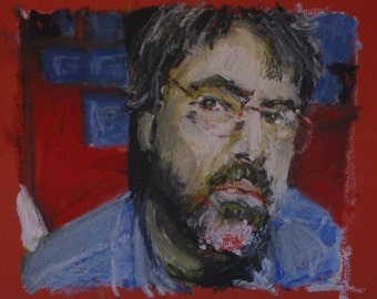 "Original Self Portrait Painting . ""Self-Portrait"" 9x11 in."