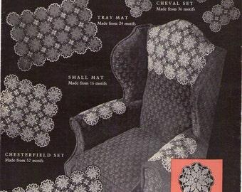 Vintage Crochet Pattern Queen Annes Lace Motif