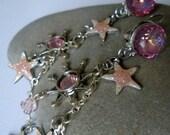 Star Shine AB Rose crystal earrings