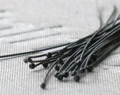 oxidized silver headpins- qty 24- 24 gauge