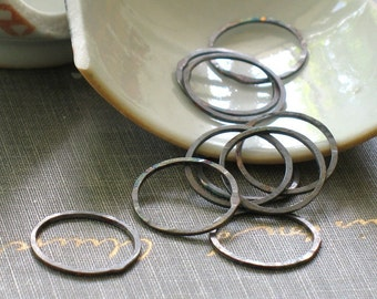 small oxidized silver circles