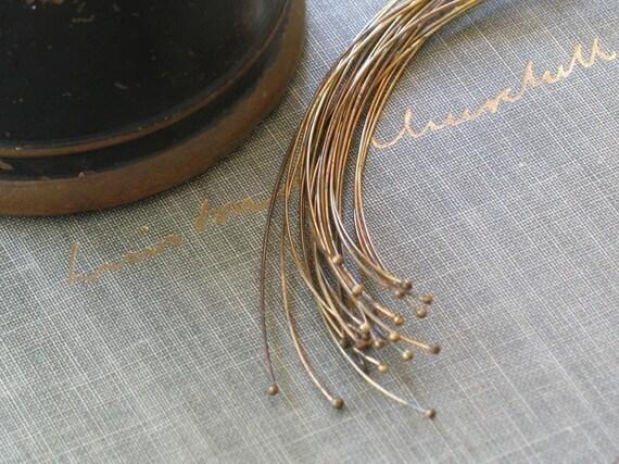 Basket Weaving Supplies Raleigh Nc : Oxidized brass headpins antiqued ball qty