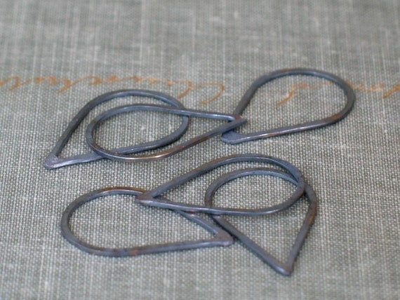 Basket Weaving Supplies Raleigh Nc : Small oxidized silver teardrops drop