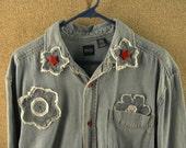 Embellished Denim Shirt-jacket